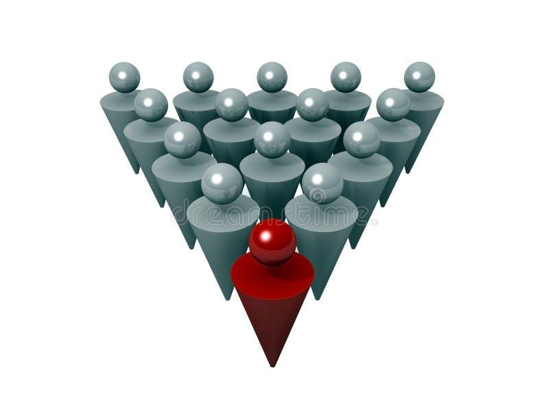 Download Leader leading a team stock illustration. Image of leader - 10215757