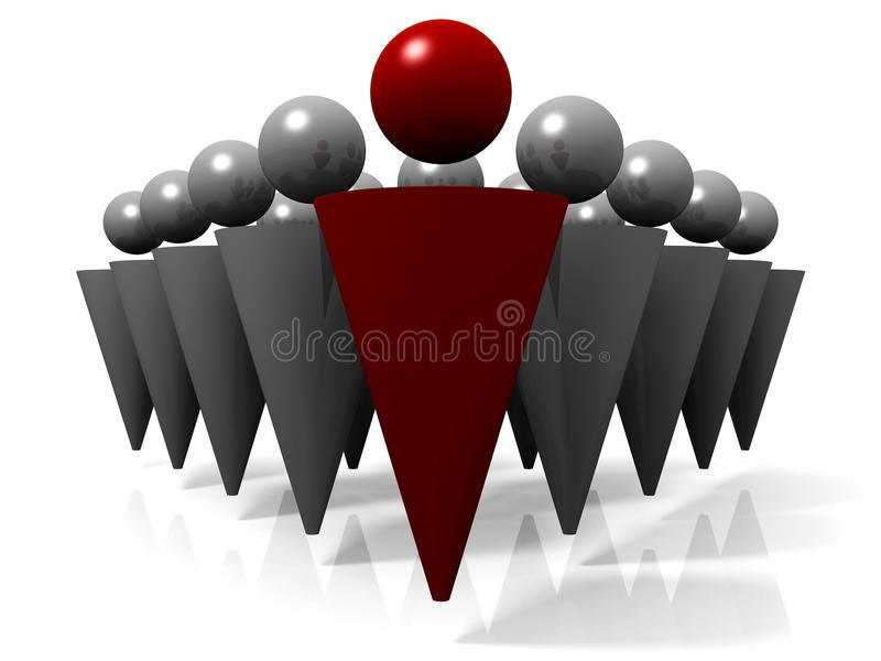 Download Leader leading a team stock illustration. Image of people - 10215762