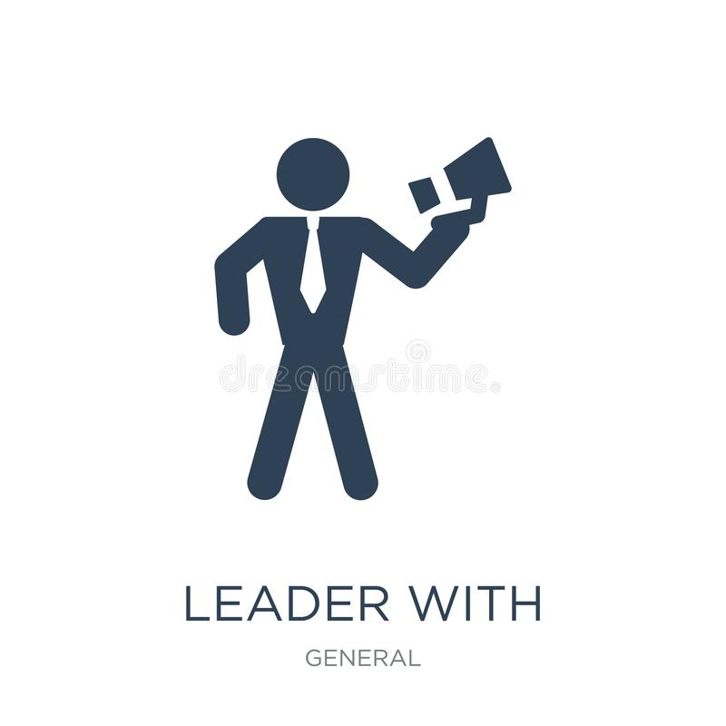 leader with loudspeaker icon in trendy design style. leader with loudspeaker icon isolated on white background. leader with royalty free illustration
