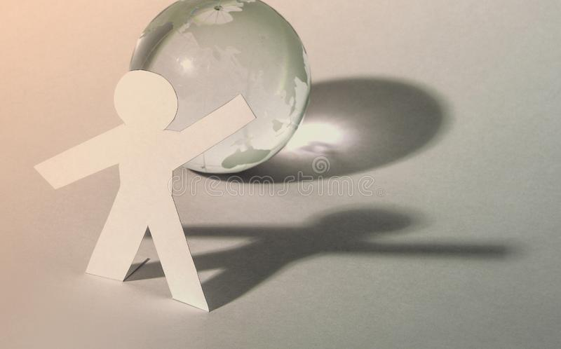 A leader man abstract global map background stock photo
