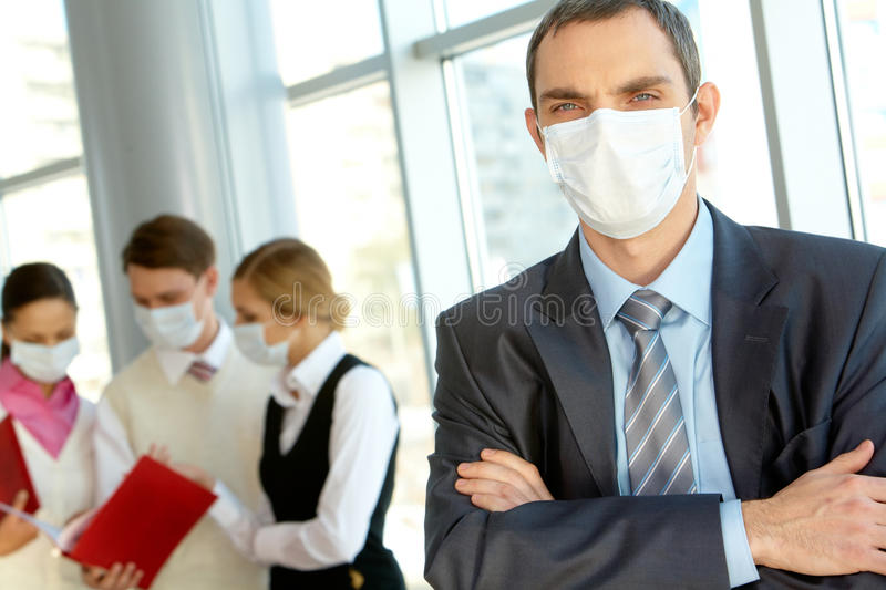 Download Leader in mask stock photo. Image of career, male, businesswoman - 16327336