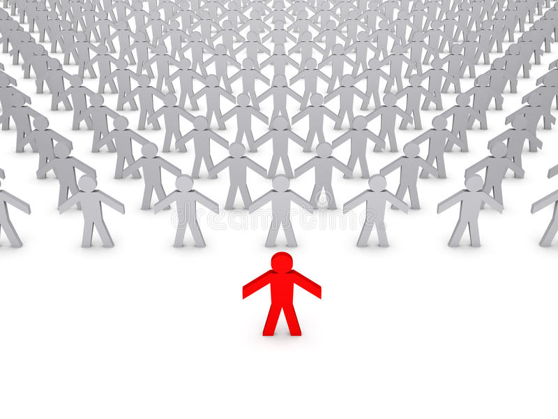 Download Leader of the people stock illustration. Illustration of crowd - 20548452