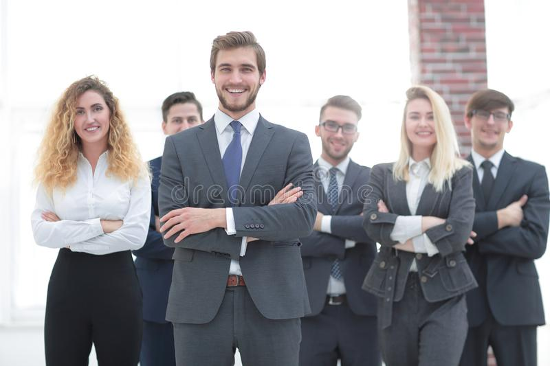 Leader and a professional business team. stock images