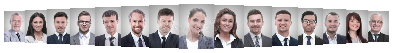 Leader and professional business team standing together. royalty free stock images