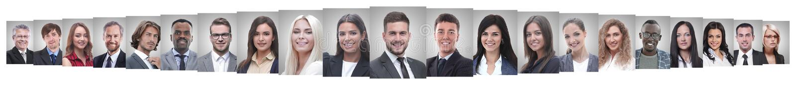 Leader and professional business team standing together. royalty free stock photography