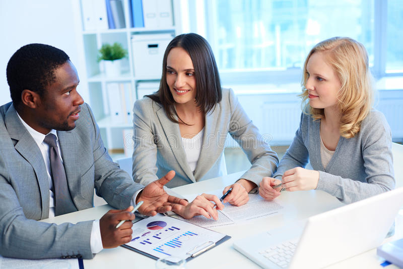 Download Leader speaking stock image. Image of discussing, group - 33210613