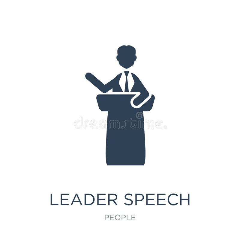 leader speech icon in trendy design style. leader speech icon isolated on white background. leader speech vector icon simple and stock illustration