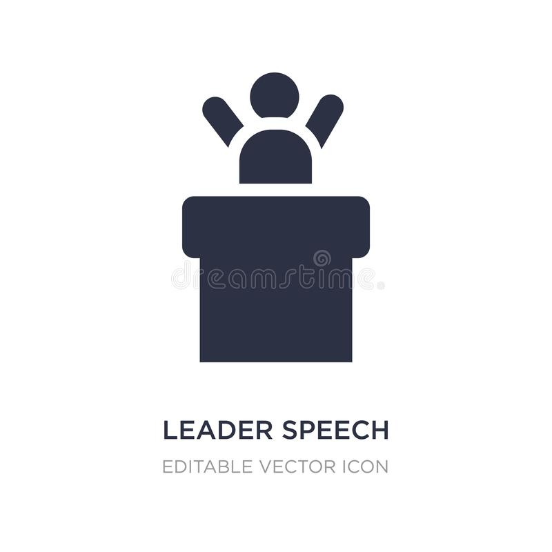leader speech icon on white background. Simple element illustration from People concept royalty free illustration
