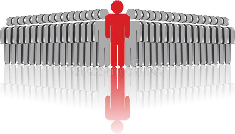 Leader team. Leader with his team on a white background royalty free illustration