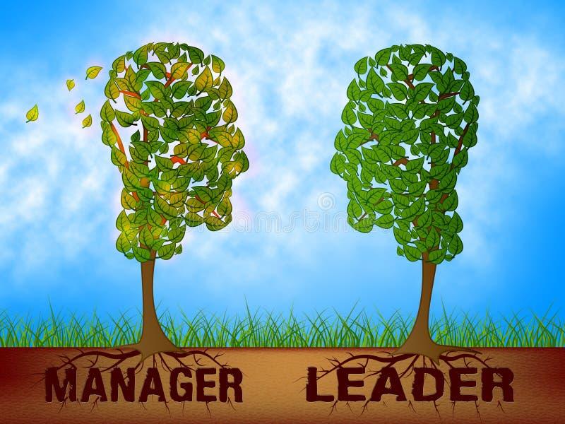 Leader Versus Manager Dibujos De Dibujo Supervisar Vs Líder - Ilustración 3d libre illustration