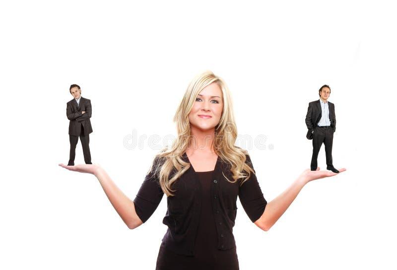 Leader woman stock image