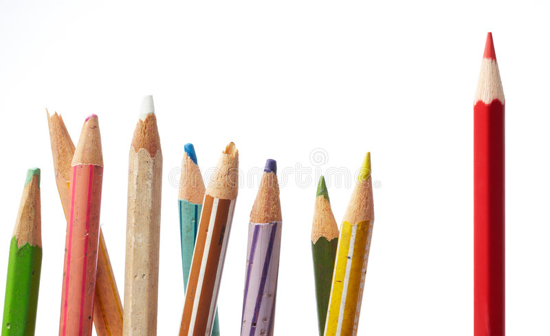 Download Leadership stock photo. Image of pencil, color, dictator - 7406778