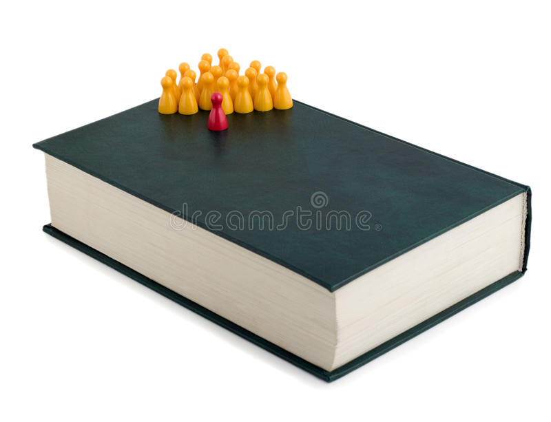 Download Leadership book stock image. Image of individuality, contrasts - 10304977
