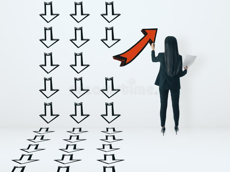 Leadership and choice concept royalty free stock photos