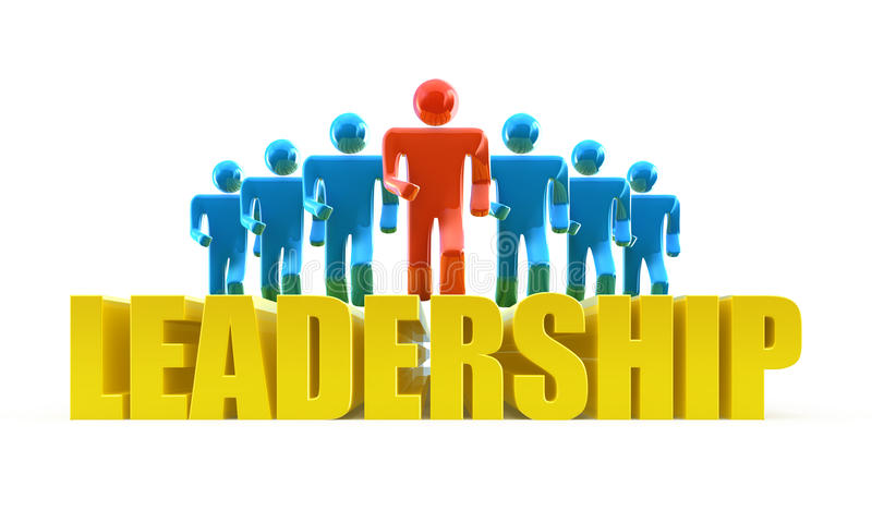 Leadership concept royalty free illustration