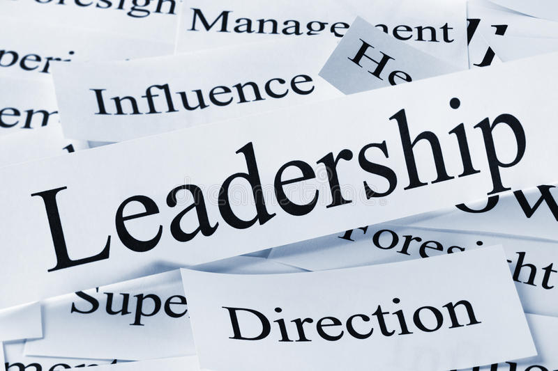 Leadership Concept. A conceptual look at leadership and associated concepts stock images