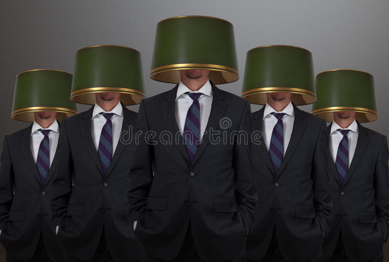 Leadership concept. With five businessman stock photos