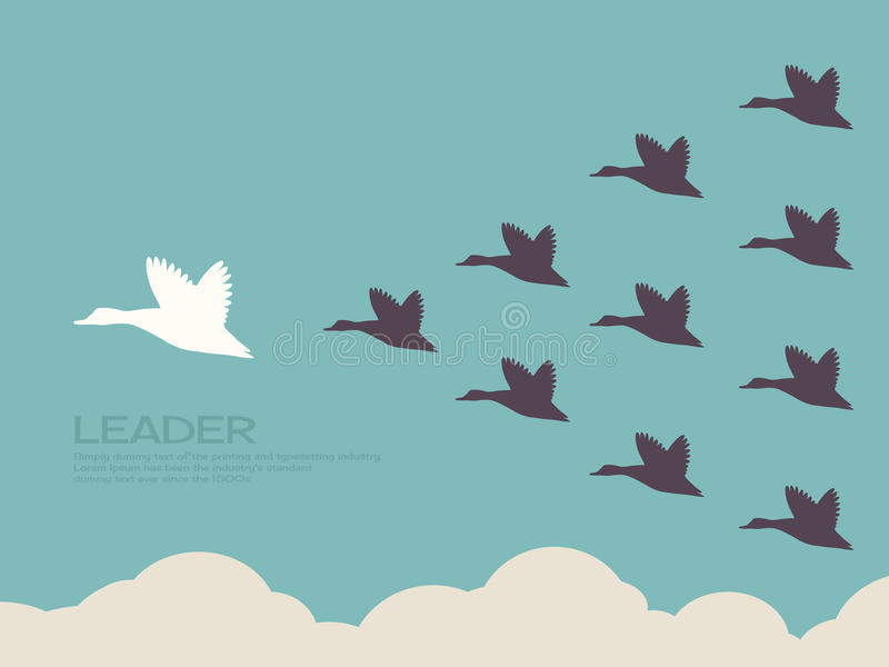 Leadership. Concept flat design royalty free illustration