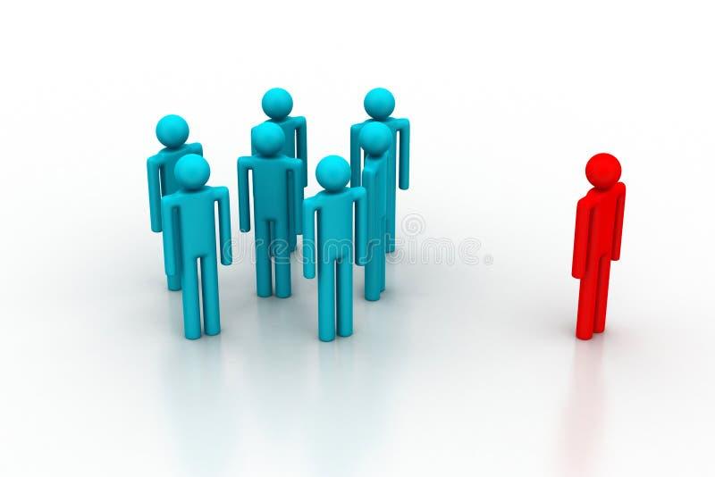 Download Leadership Concept, Leader And Team Stock Illustration - Image: 42491861