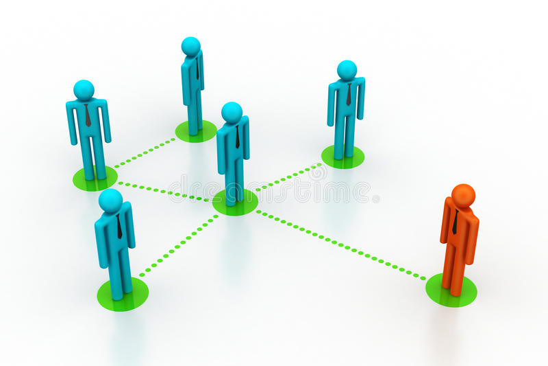 Download Leadership Concept, Leader And Team Stock Illustration - Image: 42491789
