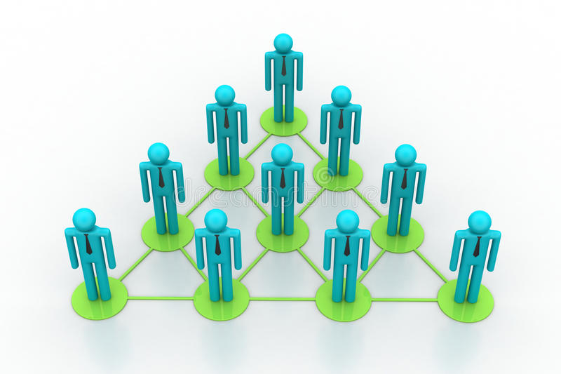 Download Leadership Concept, Leader And Team Stock Illustration - Illustration of businessman, family: 42530556