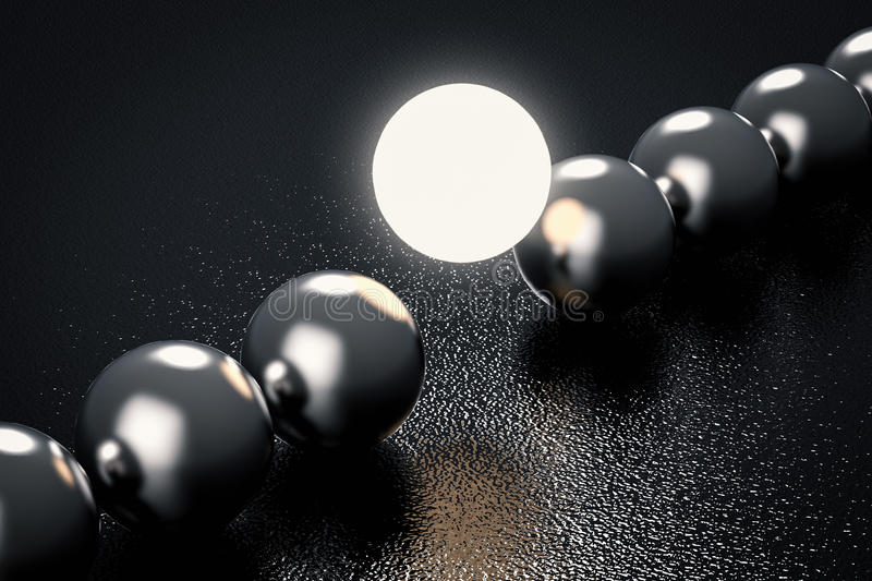 Leadership concept with light up sphere stock images