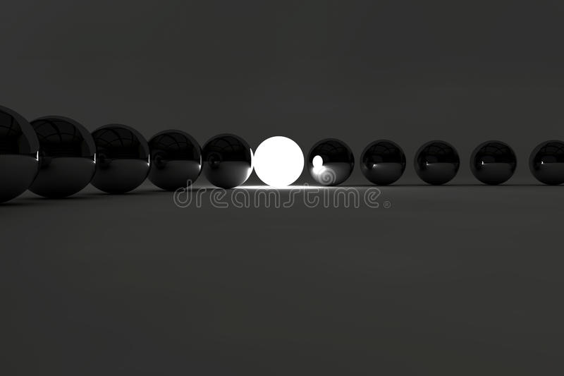Download Leadership Concept With Lighting Ball Royalty Free Stock Photography - Image: 18686357