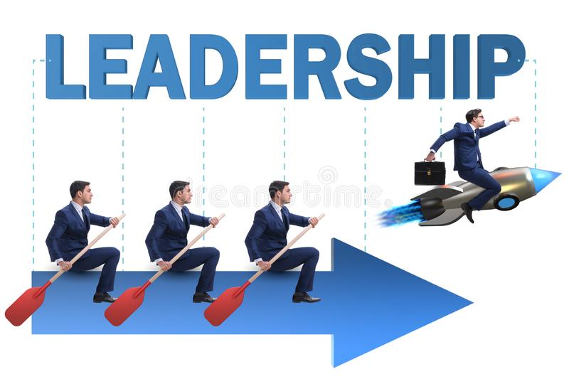The leadership concept with various business people. Leadership concept with various business people stock photos