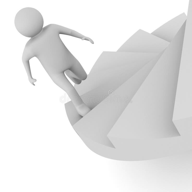 Download Leadership Concept On White Background Stock Illustration - Image: 19514074