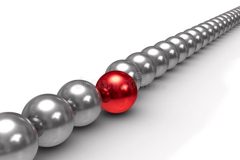 Download Leadership Concept On White Background Stock Illustration - Image: 20262512