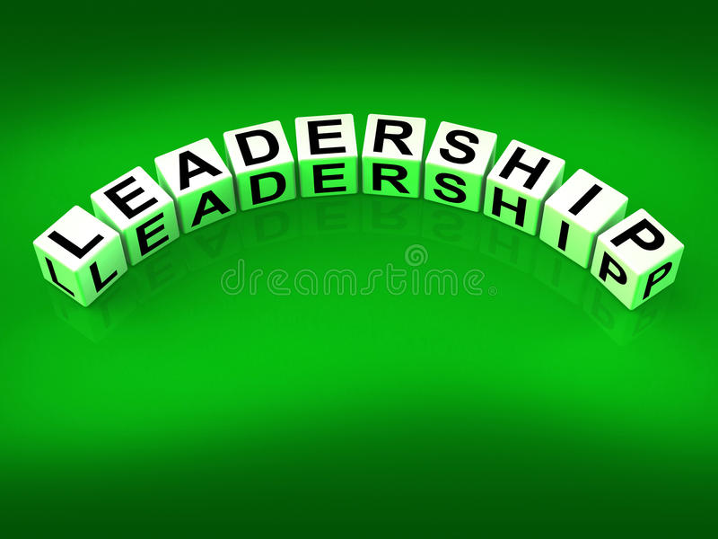 Leadership Dice Mean Guidance Influence And. Leadership Dice Meaning Guidance Influence And Management royalty free illustration