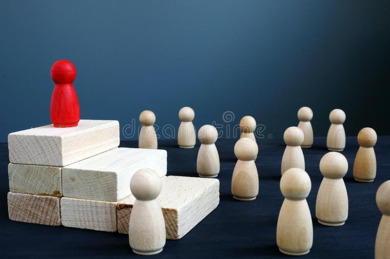 Leadership, hierarchy in team and management. Successful leader concept. Leadership, hierarchy in the team and management. Successful leader concept stock images