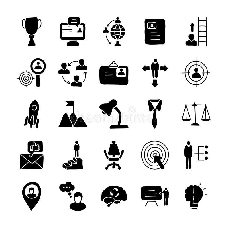 Leadership Icons stock illustration