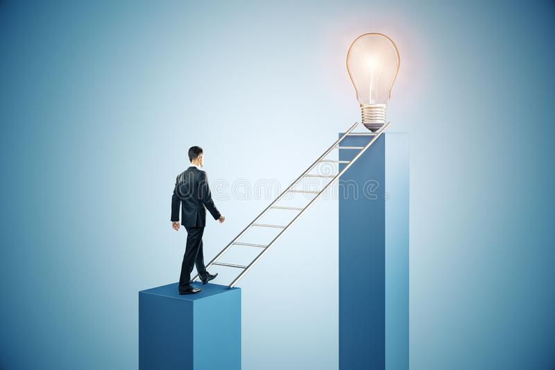 Leadership and idea concept royalty free stock photography