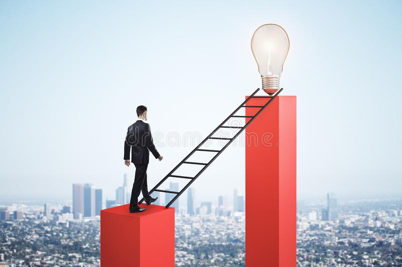 Leadership and idea concept royalty free stock images