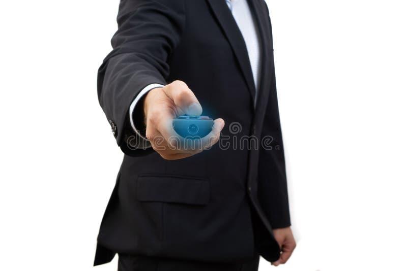 Leadership - Le gestionnaire tient la télécommande photos libres de droits