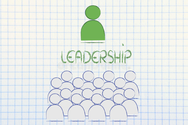 Download Leadership, Management And Individualism Stock Illustration - Image: 34645816