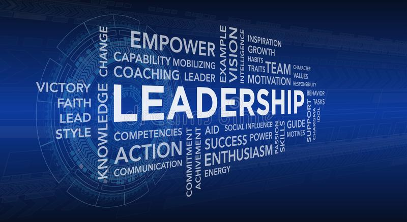 Leadership Modern Technology Banner. Vector Design with tech Background royalty free illustration