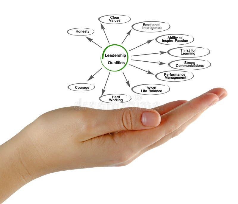 Leadership Qualities. Presenting diagram of Leadership Qualities royalty free stock image