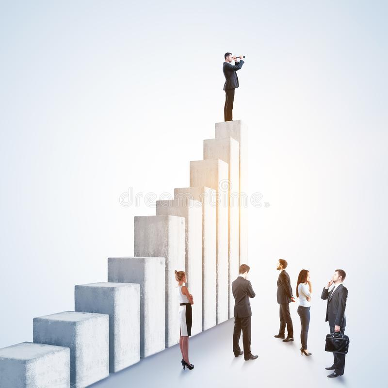Leadership, research and success concept royalty free stock photo