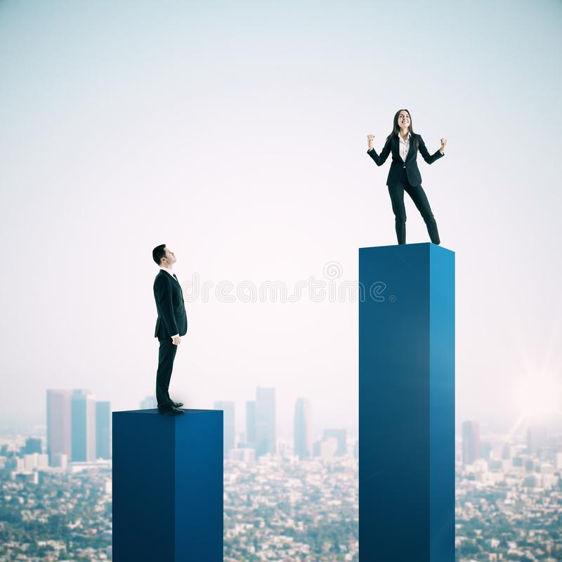 Leadership and success concept stock image