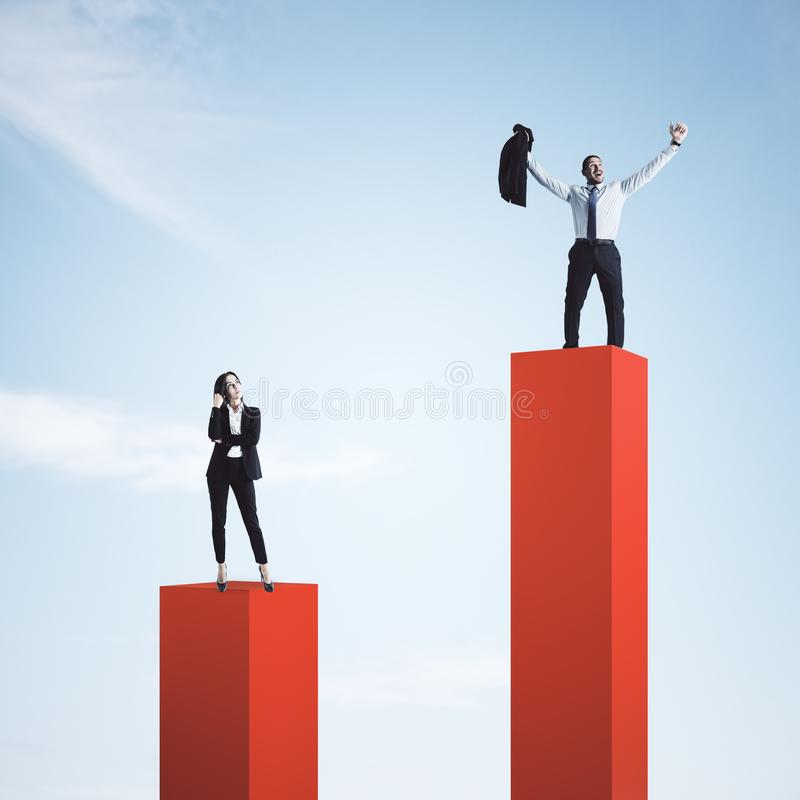Leadership and success concept stock photo