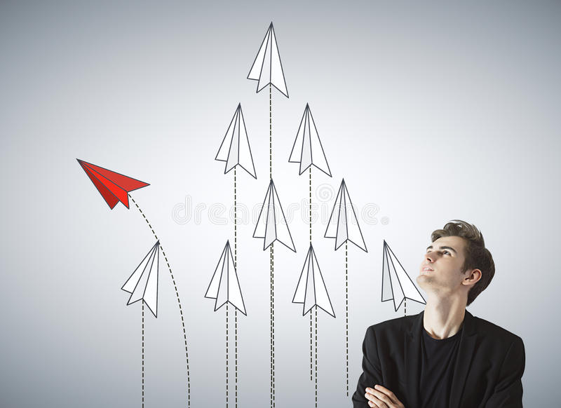 Leadership and success concept royalty free stock photos