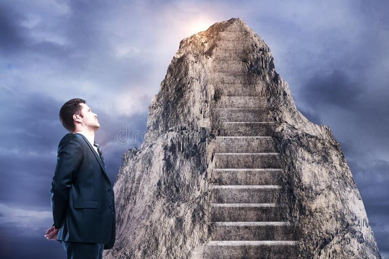 Leadership and success concept royalty free stock images
