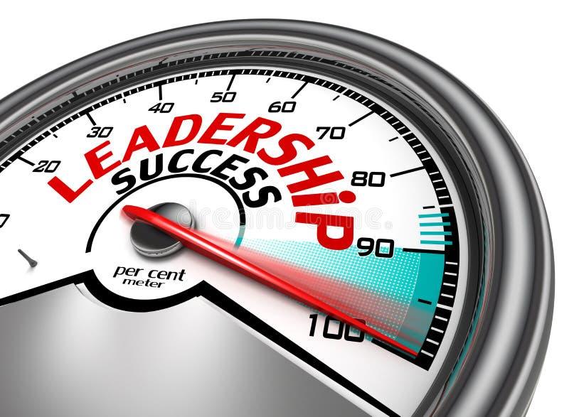 Leadership success conceptual meter stock illustration