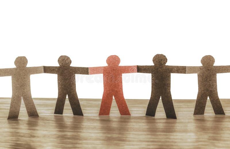 Leadership in team stock image