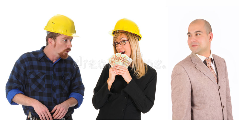 Leadership And Team Of Workers Royalty Free Stock Images