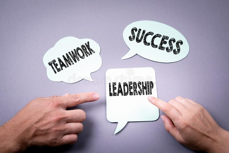 Leadership, teamwork and success concept royalty free stock images