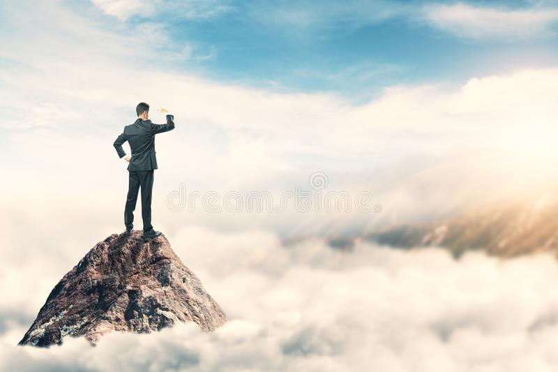 Leadership and think concept stock photo
