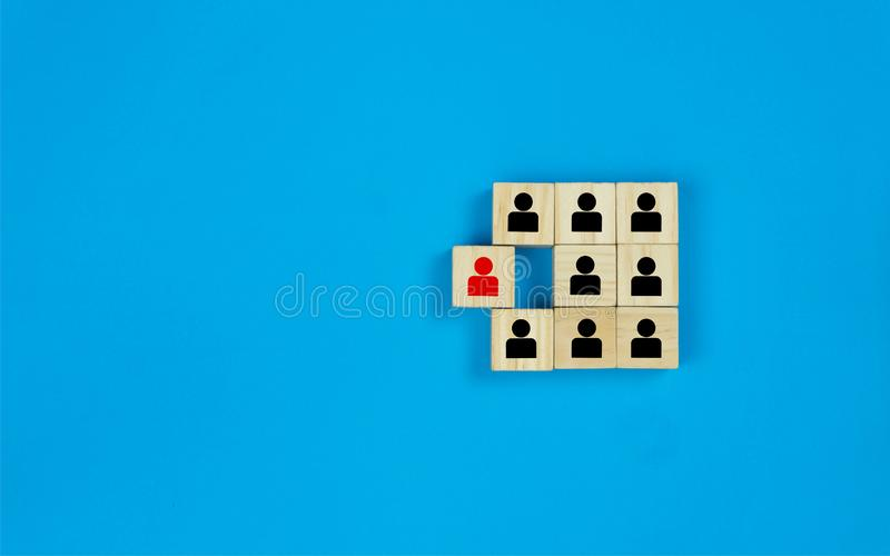 Leadership and think different concept stock photography